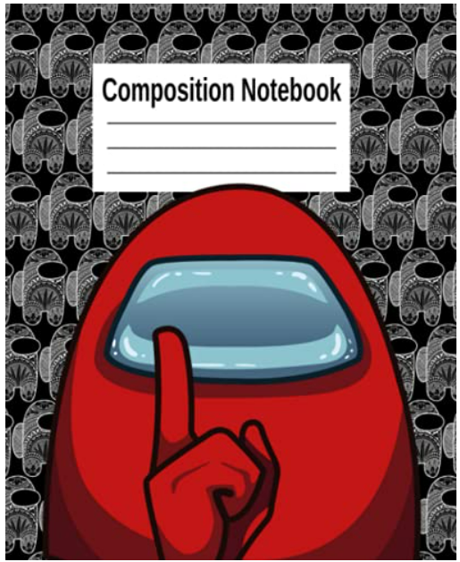 Among Us Composition Notebook